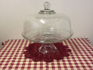 Footed Cake / Punch bowl Set with Baking Pans