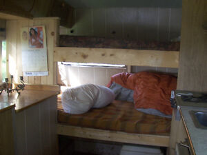travel trailer turned into bunk house