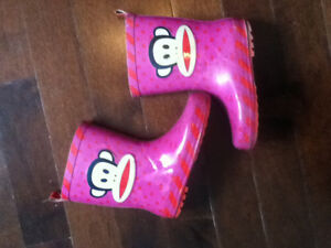 Paul Frank Rain Boots - Size Youth 13