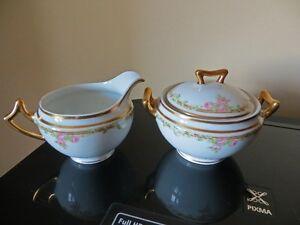 Limoges Elite Cream and Sugar, Rose pattern, EX condition Kitchener / Waterloo Kitchener Area image 1