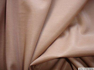 0,5 Lfm Jersey 3,15€/m² hellbeige 190cm breit mit 21% Elasthan KC44