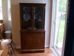 Antique China Cabinet 33 wide 15 deep and 65 tall