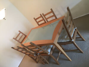 For sale Dining table with 6 chairs $350 OBO