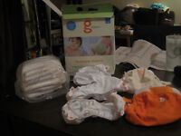 gDiapers Starter Kit (8-14lbs) cloth diapers / couches lavables