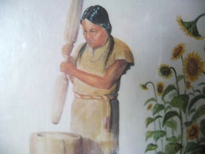 "Iroquois Artist Lithograph, Ernest Smith ""Making SunFlower Oil"" Stratford Kitchener Area image 6"
