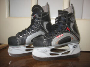 Five pairs of hockey skates for kids - sizes 9, 10, 11, 12