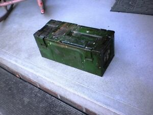 WWII 1944 British P59 25 Pounder HE Artillery Ammo Box