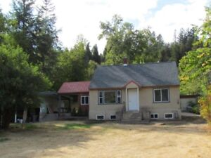 3 Bedroom House with 1/2 acre in south Castlegar