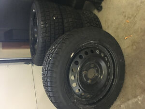 Set of Four Cooper Tires on Rims