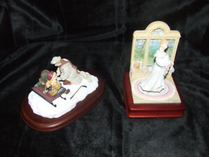 $50 FOR TWO BEAUTIFUL COLLECTIBLE TRISHA ROMANCE FIGURINES WITH
