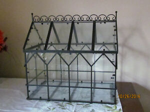 Beautiful wrought iron Terrarium.