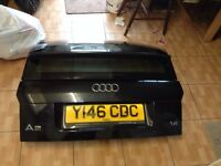 Audi a2 black boot lid tailgate complete with glass 99+ breaking spares