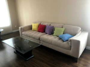 Moving Sale Rectangle Glass Coffee table for Sale