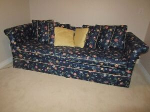 Simmons Hide-A-Bed Sofa With Accent Pillows/Curtains Only $70