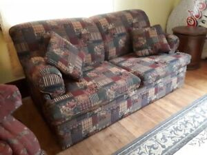 Sofa sleeper loveseat pull out rustic floral couch
