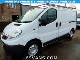 2013 13 VAUXHALL VIVARO ONE FLEET OWNER, SERVICE HISTORY, GALVANIZED ROOF RACK,