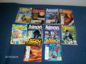 10 ISSUES-ISAAC ASIMOV SCIENCE FICTION MAGAZINE-1990'S-VINTAGE!