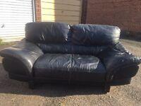 3seater +2 seater Italian leather sofa