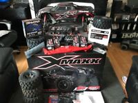 Rc Traxxas xmaxx 8s monster truck swap 2 rod carp set up or drone