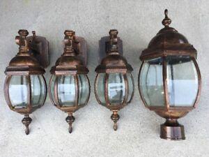 Luminaires extérieurs en métal