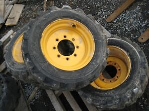 2 Tires/Wheels for Skid Steer 10-16.5 - EXCELLENT CONDITION