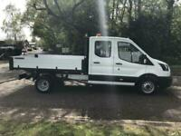 2020 Ford Transit 350 L3 D/Cab Tipper 2.0 130ps EURO 6 CHASSIS CAB Diesel Manua