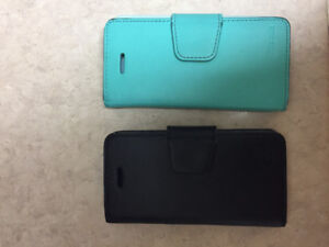 Two wallet cases for iPhone 5s / 5 / SE