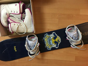 snowboard with bindings & boots!
