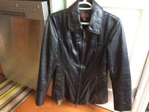 NEW *DANIER* Leather Coat -- (Sz. 2-4)