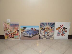 MICKEY MOUSE PICTURES - GLASS WITH METAL FRAME (LIKE NEW) London Ontario image 2