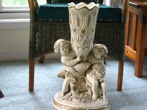 "cherub pedestal stand 22"" high"