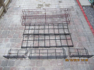 SevenPieceLot Of Retail/Collectible Slot/Pegboard Metal Shelving