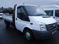 FORD TRANSIT 350 115 DROP SIDE TRUCK, White, Manual, Diesel, 2011
