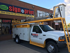 sign installation, Print, Manufactuer and Design