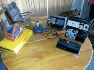 Price Dropped- Movie Camera, Projector, Splicer and Lights (8mm)
