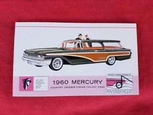 1960 MERCURY COUNTRY CRUISER WAGON NOS Dealer Promo Postcard