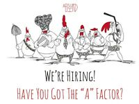 Hot New in Soho - Absurd Bird! restaurant Staff wanted for our New Venue in Soho!