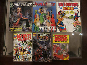 Vintage Comic Catalogs & Magazines, $3-$10 each / $25 for all