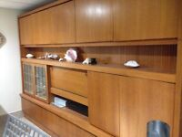 MID-CENTURY MODERN WALL UNIT/CHINA CABINET