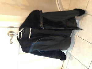 Leather coat (black)