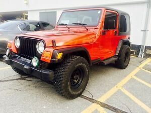 SOLD 2002 Jeep TJ 196km certified & etested