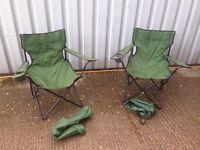 X2 Folding camping chairs