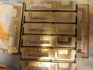 memoire 64GB 8x 8GB DDR2 PC2-5300 serveur Mac Pro 2006-2008