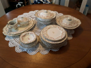 Antique China dishes Meakin Harmony Rose