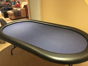 Full Size Poker Table including folding legs, Mint Condition