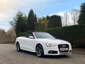 2013 13 Audi A5 2.0TDI SPECIAL EDITION S LINE MODEL Auto 2dr Convertible White