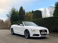 2013 13 Audi A5 2.0TDI SPECIAL EDITION S LINE MODEL Auto 2dr Convertible White