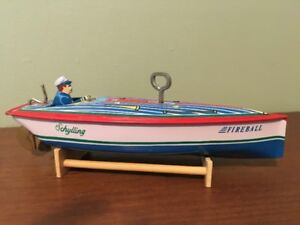 Schylling Collector Series Tin Litho Wind-Up Speedboat
