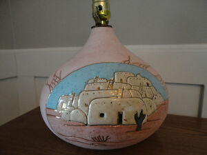 Beautiful Sante Fe Style Lamps with matching sconces