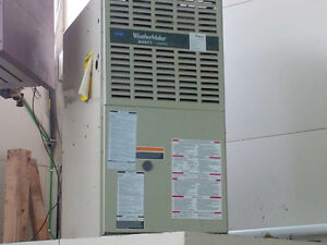 "Carrier ""WeatherMaker"" mid-efficiency gas furnace"